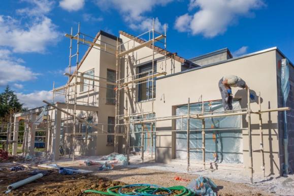 échafaudage et travaux façade maison
